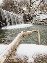 Photo: Waterfall in the snow at Eastwood Park in Dayton, Ohio.