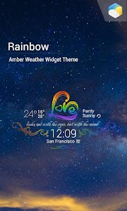 Rainbow Love theme widget screenshot 0
