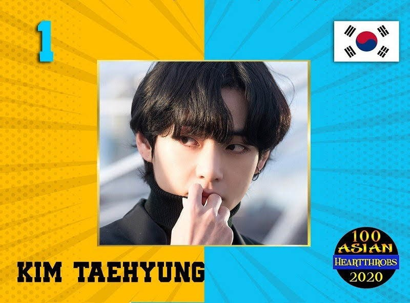 BTS's V won the title of Asian Heartthrob 2020