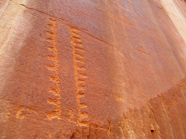 Unusual petroglyphs
