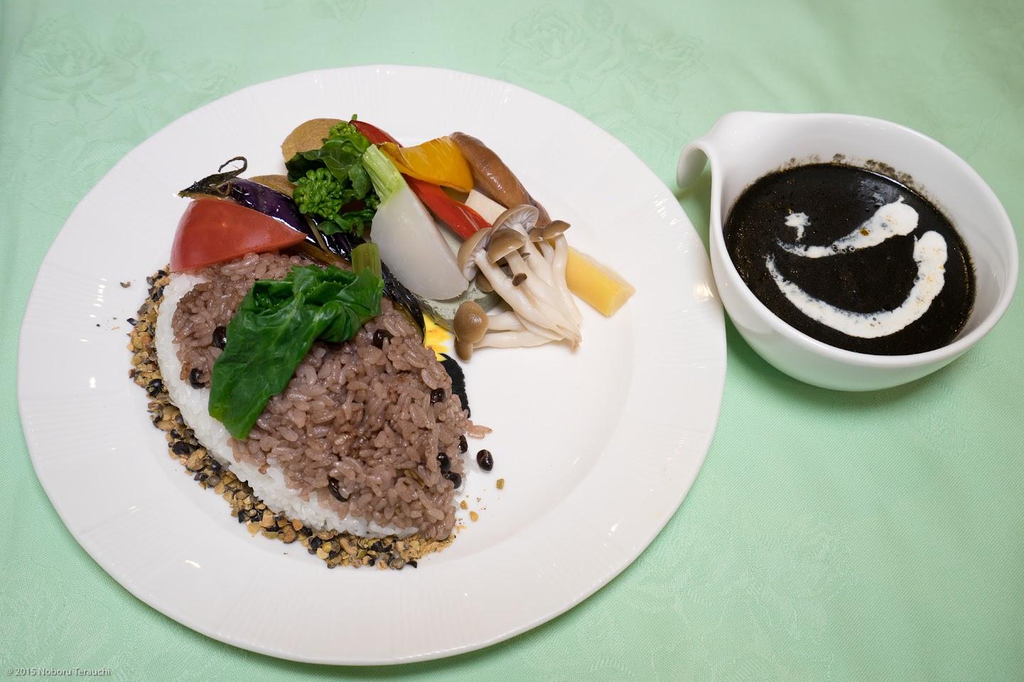 黒い野菜カレー(北竜町)