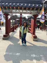 "Photo: At the gate (""immigration"") going to the Republic of Nami Island."