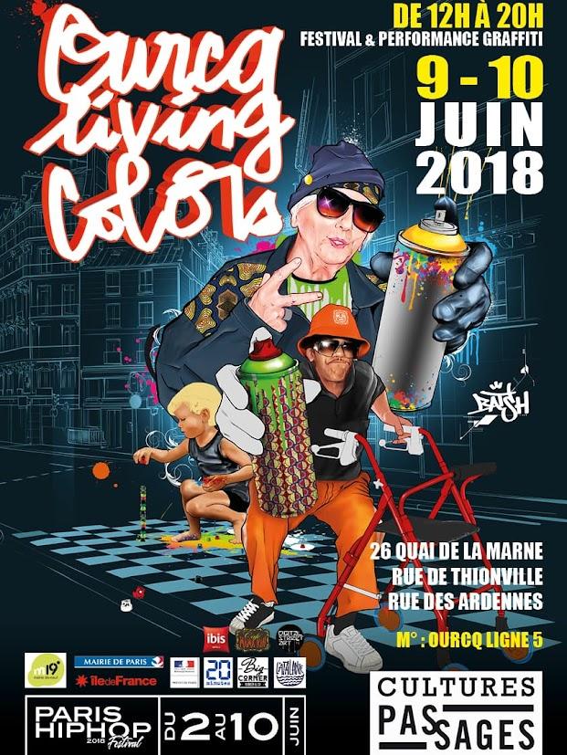 Affiche de l'édition 2018 du festival Ourcq Living Colors
