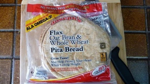 Depending on the size of your pita you can get 3 or 4 out...
