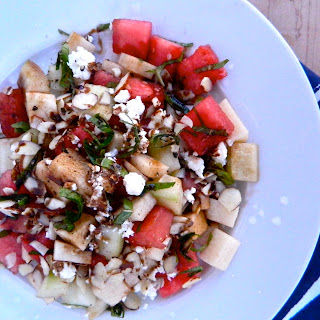 Jicama-Watermelon Salad with Feta, Mint + Balsamic