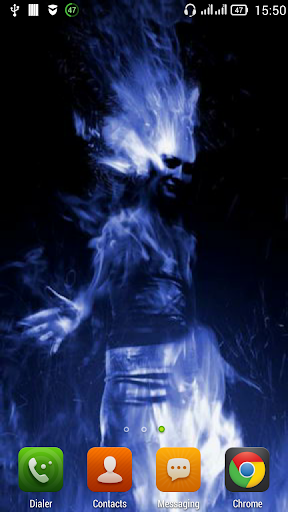 Girl in a blue flame LWP