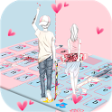 Pink Couple Love icon