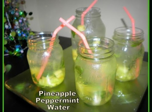 Minty Pineapple Iced Water