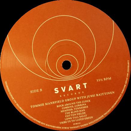 Svart Records julkaisun B-puolen etiketti