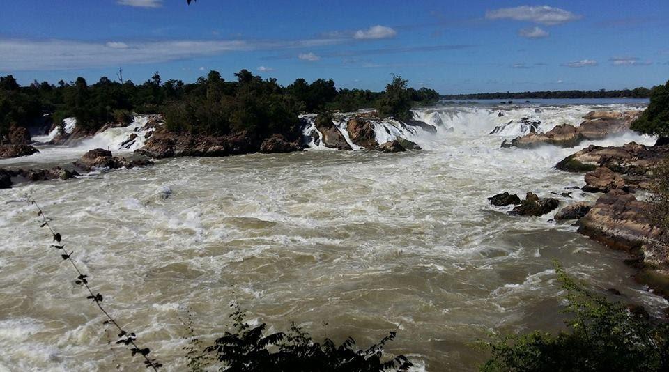 Một phần trong khu vực thác Khon Phapheng - Hạ Lào .
