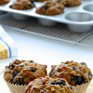 Rise and Shine Blueberry Oatmeal Muffins