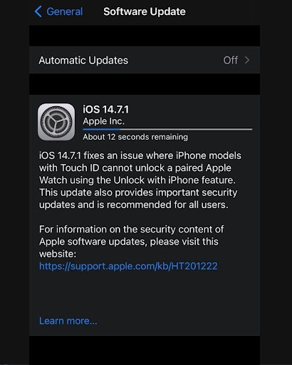 iOS 14.7.1 Update Brings Urgent Security Fixes for iOS Devices