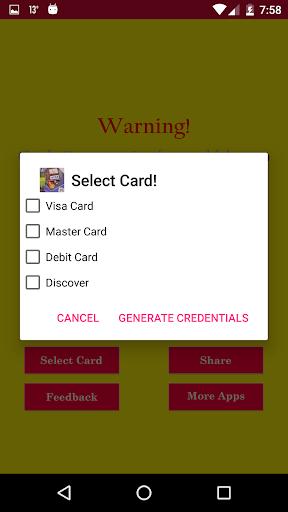 ... Fake Virtual Credit Card Generator screenshot 2 ...