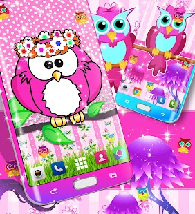 Cute owl live wallpaper - náhled