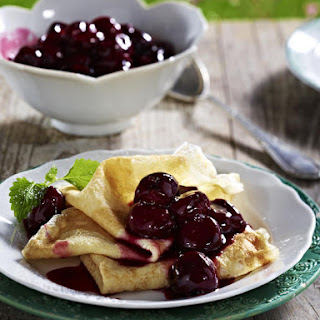 Pancakes with Cherry Compote.