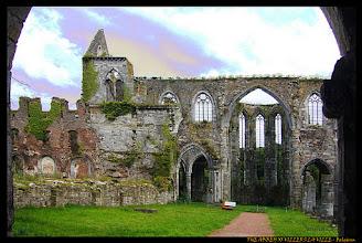 Photo: Les ruines de l'abbaye cistercienne de Villers-la-Ville en Belgique. Das Kloster wurde 1146 von Bernhard von Clairvaux gegründet. Im Jahr 1796 wurde die Abtei aufgelöst und diente als Steinbruch. Im 19. Jahrhundert wurde durch das Gelände eine Bahnstrecke gebaut.