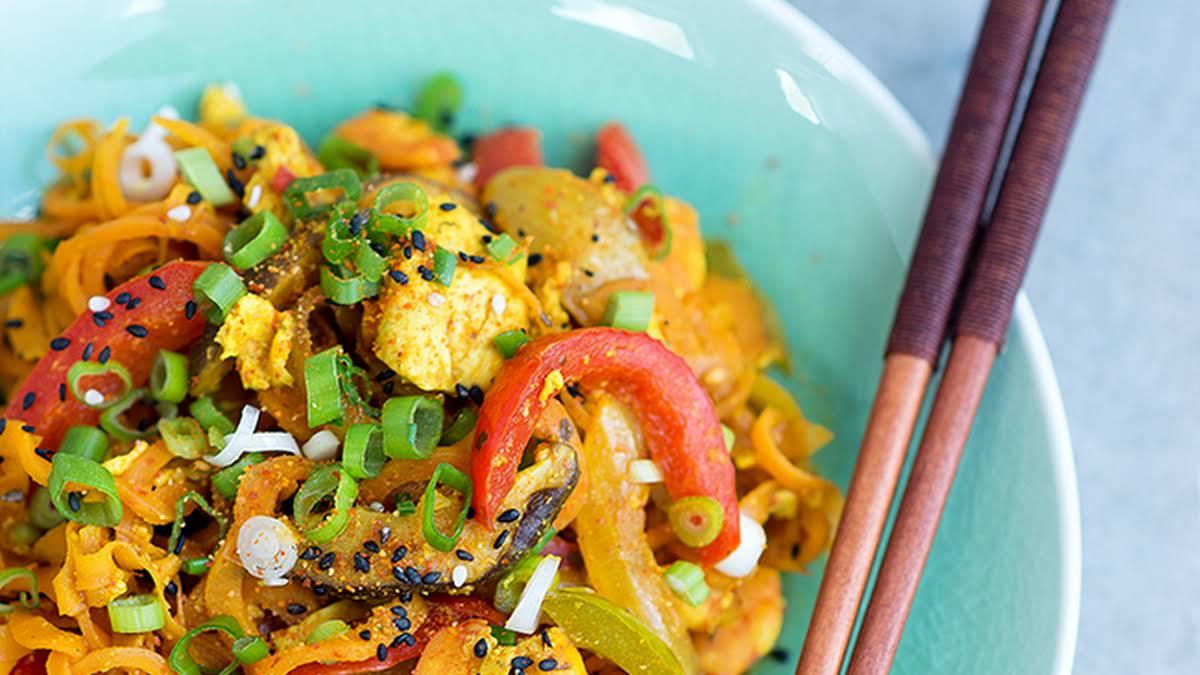 Healthy Stir Fried Singapore Carrot Noodles