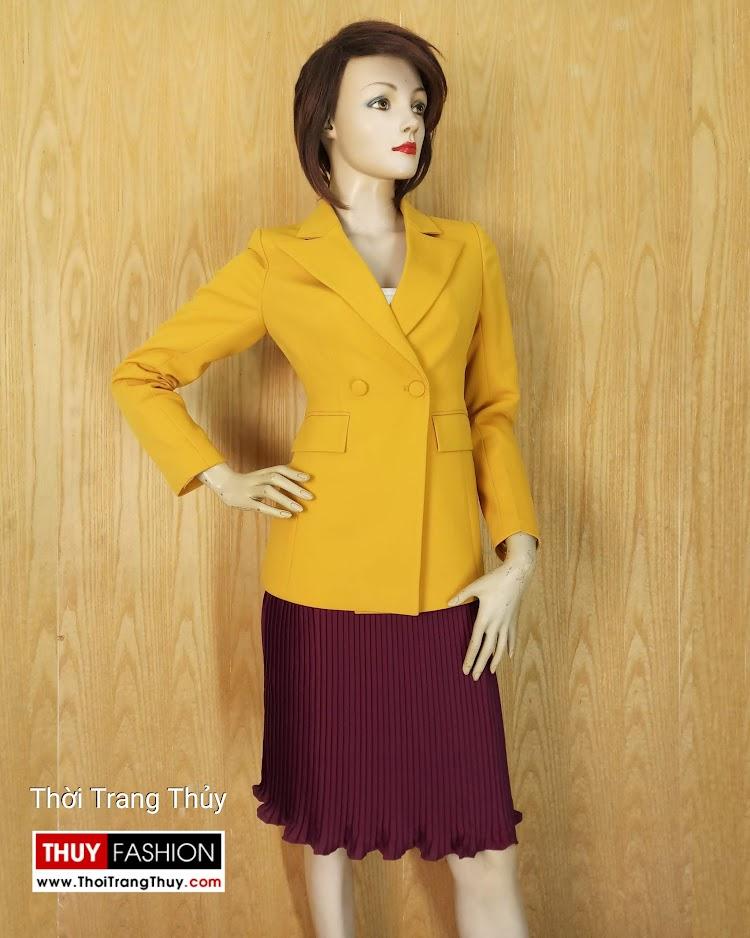 Áo vest nữ công sở màu vàng cháy V658 tại hải phòng