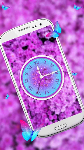 Twinkling Butterfly Clock Live Wallpaper by stylish android themes