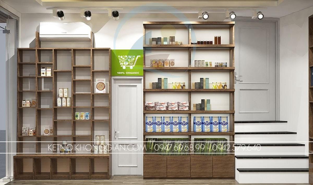 thiết kế cửa hàng thực dưỡng chuyên nghiệp
