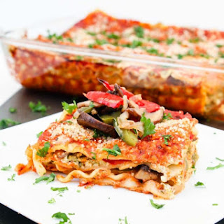 Vegan Lasagna Recipe with Roasted Veggies & Garlic Herb Ricotta.