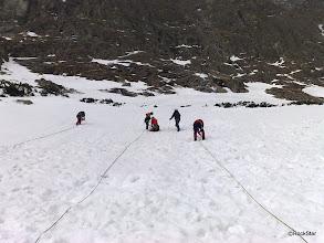 Photo: Pri nácviku isteného postupu v snehových svahoch...