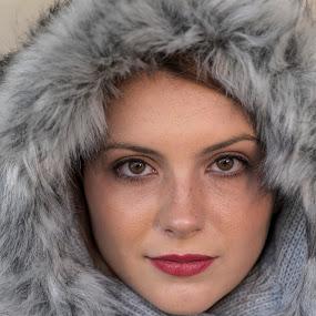 Laura by Patti Reddoch - People Portraits of Women ( fur, closeup, hats, women )