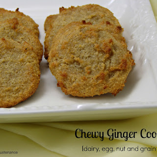 Grain Free Chewy Ginger Cookies.