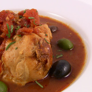 Tomatoey Chicken with Olives.