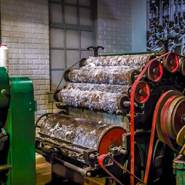 by Myra Brizendine Wilson - Artistic Objects Industrial Objects ( weaving machine, machine, weaver )