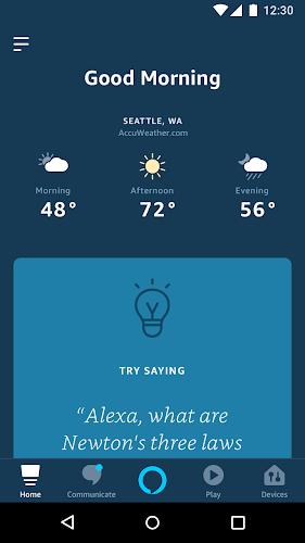 Amazon Alexa Android App Screenshot