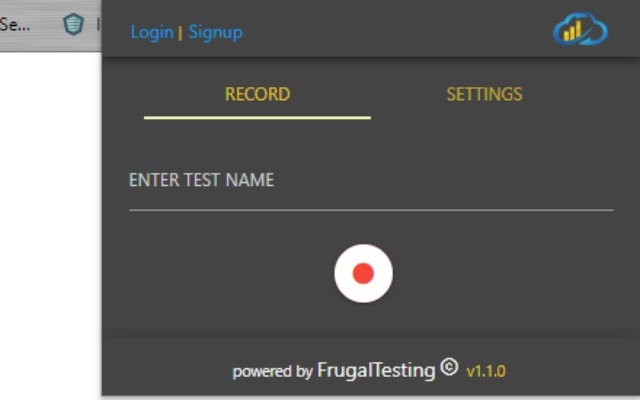 Frugal Testing Recorder
