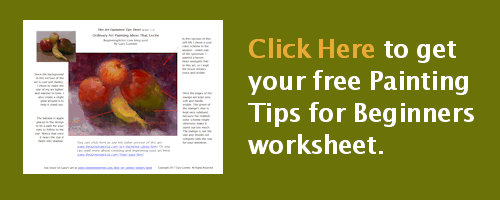 Click here to download your free Painting Tips For Beginners worksheet
