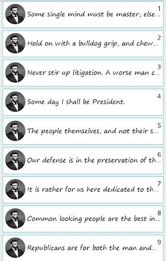 101 Great Saying By A'Lincoln
