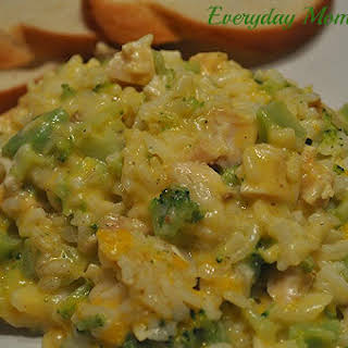Chicken, Broccoli and Rice Casserole.