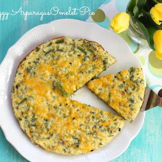 Eggy Asparagus Omelet Pie.