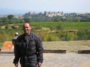 Photo: Frankreich: Blick auf Carcassonne Parkplatz A 61 Autoroute des Deux Mers (Urheberrecht M. Rösel)