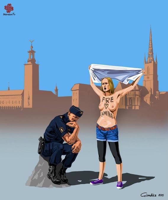 Noticias criminología. Ilustraciones que muestran la policía de diversos países. Suecia. Marisol Collazos Soto. Criminologia, ciencia, escepticismo