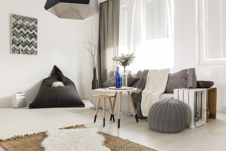 Simple interior in scandi style