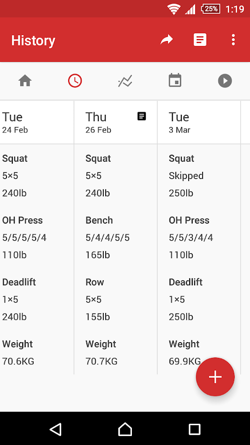 StrongLifts 5x5 Workout- screenshot