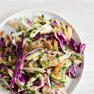 Crispy Chicken Apple Cabbage Salad.