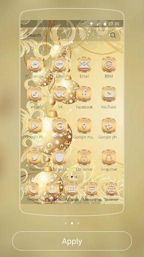 Gold Snow Ball Theme 1.1.2 screenshots 2