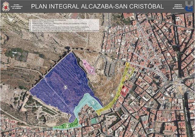 Mapa de actuaciones que se encuentran previstas en pleno corazón del Casco Histórico por parte del equipo de Gobierno.