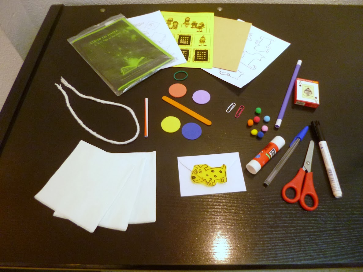 material del taller de magia para niños