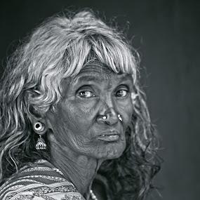 KARUPPI by Sarudas C.m - Black & White Portraits & People ( tribe, sarudas, kerala, wayanadu, saru,  )