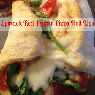 Spinach Red Pepper Pizza Roll Ups
