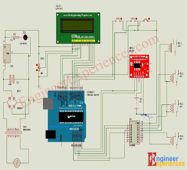 Complete Circuit Diagram of Automatic Load management system