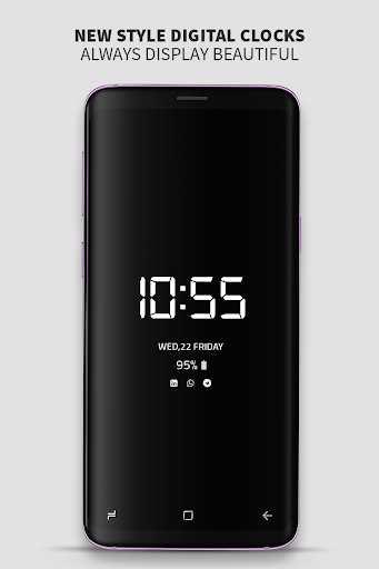 Always on Display photo clock : Super-amoled screenshots 2