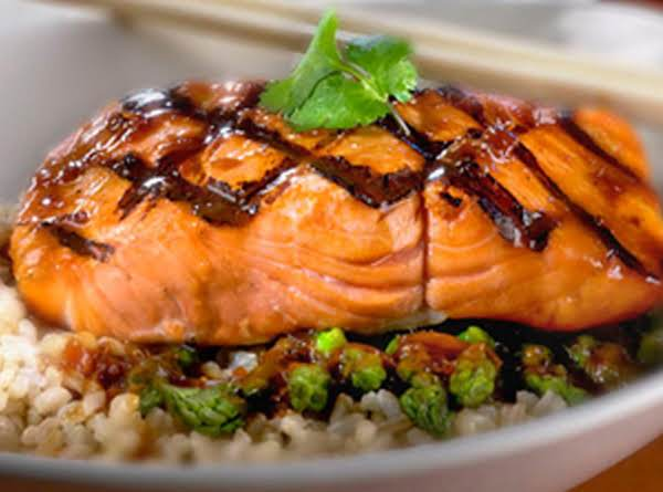 Asian Salmon With Rice Pilaf Recipe