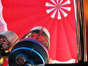Photo: Kuumailmapallo korista katsottuna